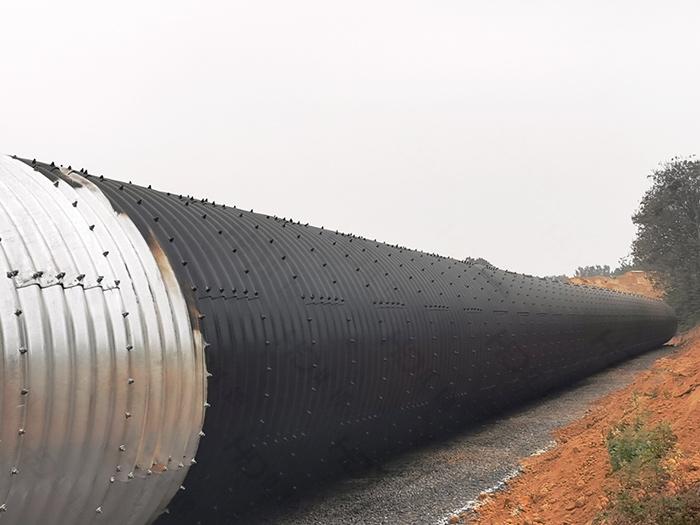 河南郑州国道改线拼装波纹涵管、镀锌波纹钢管