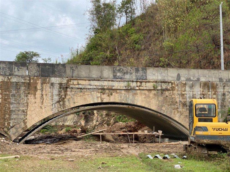 2020年4月27日拉萨危桥波纹钢管涵加固项目